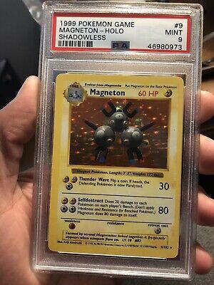 Magneton - 9/102 - Holo Base Set Shadowless PSA 9 Pokemon card (MINT)