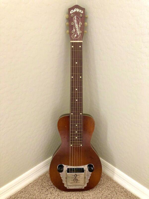 Vintage 1950's Oahu Tonemaster Lap Steel Guitar with OHSC