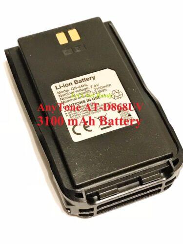 AnyTone AT-D878UV 868UV Battery Pack 7.4V 3100mAh with Belt Clip   US Seller!