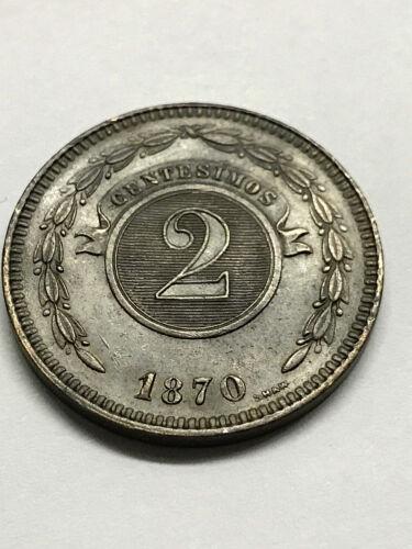 1870 Paraguay 2 Centesimos Ch.BU #10903