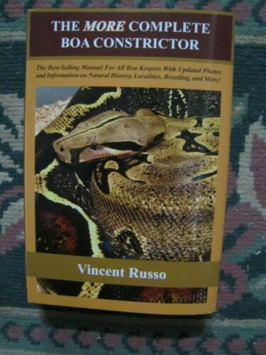 The More Complete Boa Constrictor ( hardback ) by Vincent Russo  BRAND NEW
