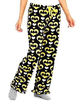 New XXL (20) Womens Plus Size 2X Black Batman Sleep Pajama Night Pants DC Comics ()