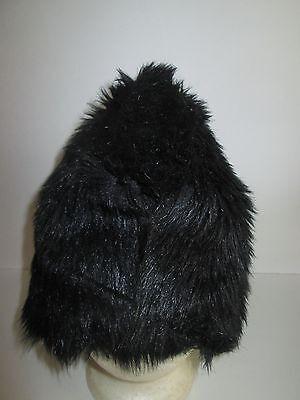 Custom Made BLACK Faux Fur COSSACK HAT Costume Lined Russian CAP - Russian Hat Costume