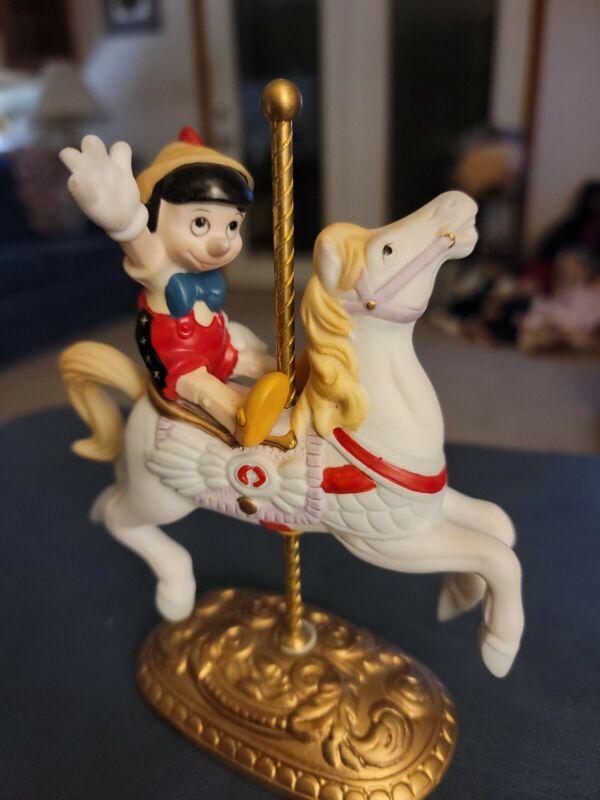 New England Collector's Society PINOCCHIO Carousel Horse Figure NIB