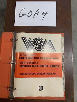 Kubota G3200 G4200 G4200h G5200h Diesel Lawn Garden Tractor Shop Service Manual