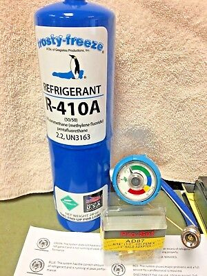 410a R410a R-410a Refrigerant Refill Kit Gauge Charging Hose Instructions
