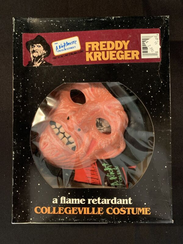 "Nightmare On Elm Street Freddy Krueger Collegeville Halloween Costume ""S"" NOS"