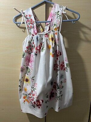 Zara Girls Kids Dress with Flower Details