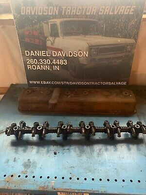 Oliver 70 Tractor Gas Engine Motor Rocker Arm Assembly Valve Cover