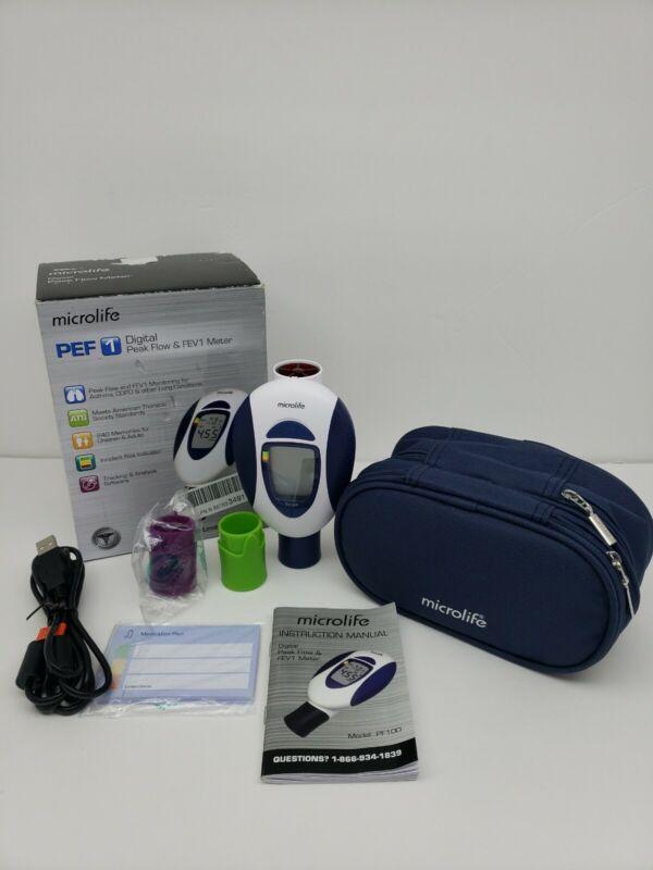 Microlife PEF 1 Digital Peak Flow & FEV1 Meter Spirometer For Asthma, COPD
