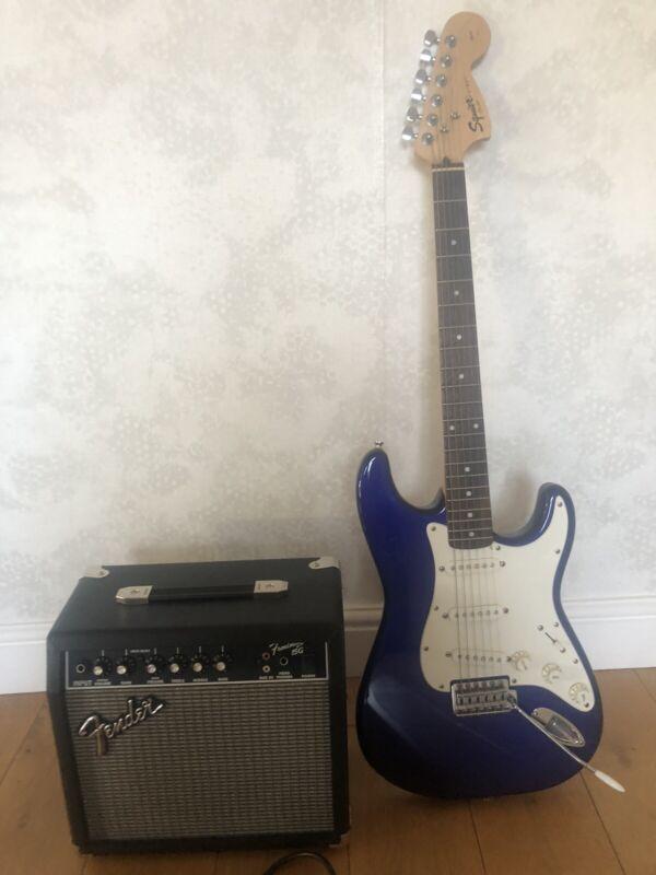 Fender Squier Strat Guitar And Amp