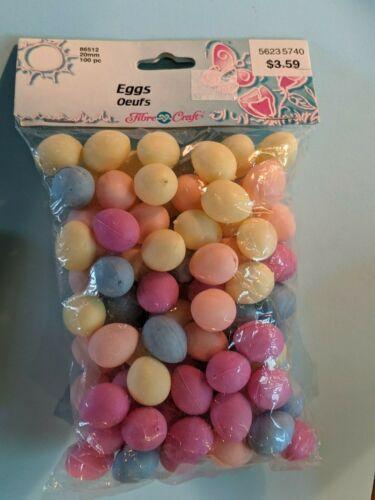 NOS Mini Plastic Easter Eggs Pastel Egg Assortment 100 Count  Crafts