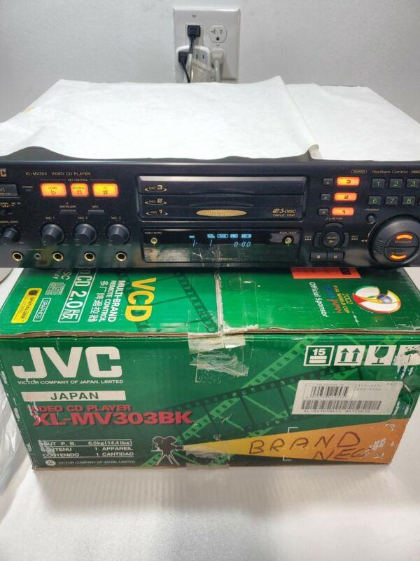 (NOS) JVC XL-MV303BK 3 Disc Karaoke Video VCD CD Player Changer NTSC & PAL