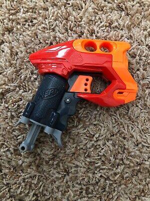 Small Mini Micro Hasbro NERF NANOFIRE? Blaster Mini Dart Pistol Gun Orange Red