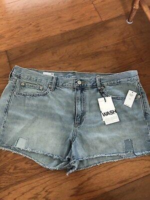 Womens NWT Size 33 Inch Gap Denim Cutoff Shorts Boho Beachy Jeans