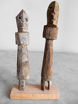 Set Of Figure Aklama Adan Adangbe People Ewe 15cm +16cm Art Tribale Primitive.**