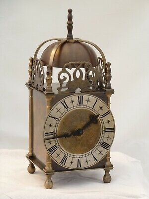 Quality Lantern Clock Solid Brass Bell Strike Mantle Mantel Carriage 9