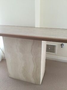 Travertine Hall Table - wooden edge Joondalup Joondalup Area Preview