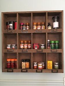 Wooden kitchen units ebay - Wooden kitchen shelf unit ...
