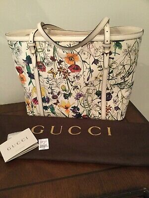 NWT GUCCI Handbag/Tote Leather Jackie O Floral Design Limited Edition