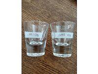 Heavy Jameson Irish Whiskey Shot Glass 1.5 oz Round Bottom Round Top