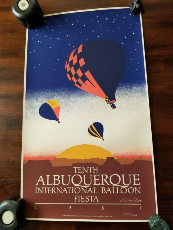 "RARE 1981""ALBUQUERQUE INTERNATIONAL BALLOON FIESTA"" POSTER NUMBERED 2358/5000"