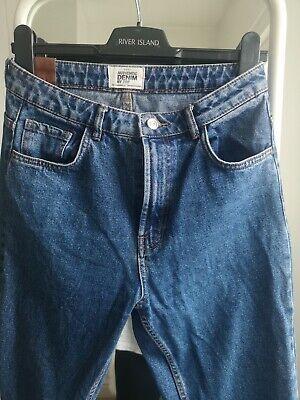 Zara Mom Jeans Size 10 Dark Blue