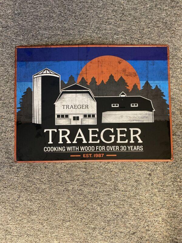 Vintage Look - TRAEGER GRILLS TIN SIGN 24x18 Rare Advertising Tin