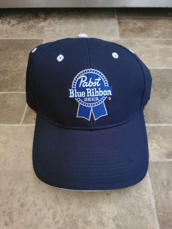 Pabst Blue Ribbon Beer Dark Blue Hat Cap Head wear Brand NEW RARE Milwaukee