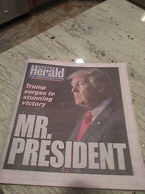 DONALD TRUMP-MR. PRESIDENT-SHOCKS THE WORLD-HERALD NEWSPAPER NOV.9,2016