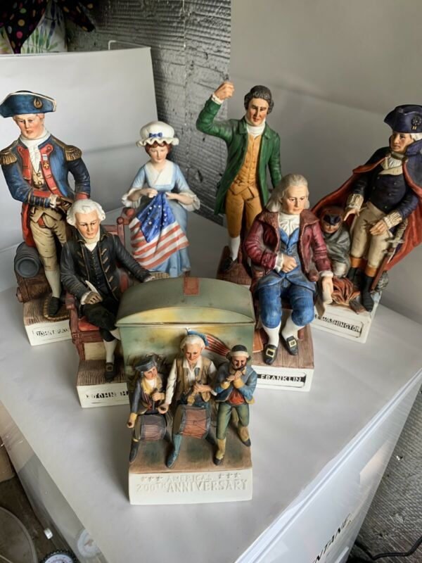 Lot Of McCormick Whiskey Decanter Patriots Series Figurines (music Works) READ A