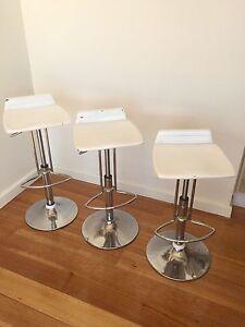 Set of three modern bar stools Sandy Bay Hobart City Preview