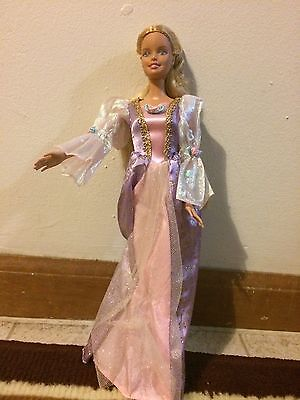Beautiful Barbie As Princess Rapunzel Doll W/Growing Hair & Glittery Gown