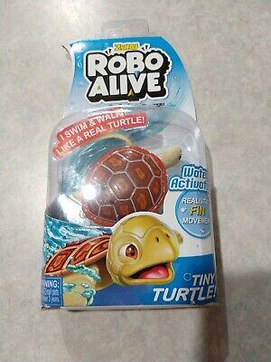 Zuru Robo Alive Tiny Red Wood Turtle Bath Pool Water Activated Robotic Pet