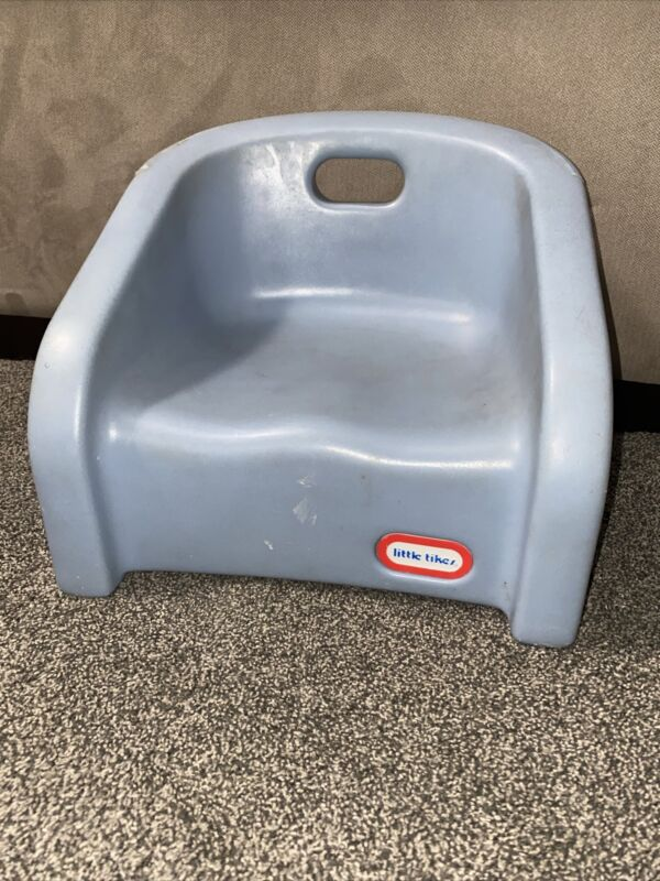 Vintage Little Tikes Blue Toddler Kid Child Booster Seat Chair Plastic W/ Handle