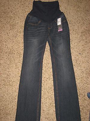 NEW Motherhood Oh Baby maternity womens medium denim jeans bootcut  $60