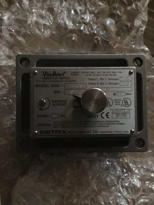 Metrix Instrument 5550-111-330 Vibralert Vibration Switch NEW