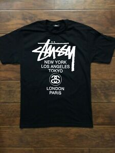 cc279ba9900b Stussy World Tour Black Tee Shirt Size Medium