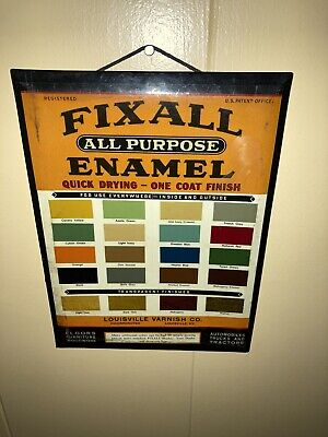Rare Automotive Paint Color Select Tin Sign 1940's