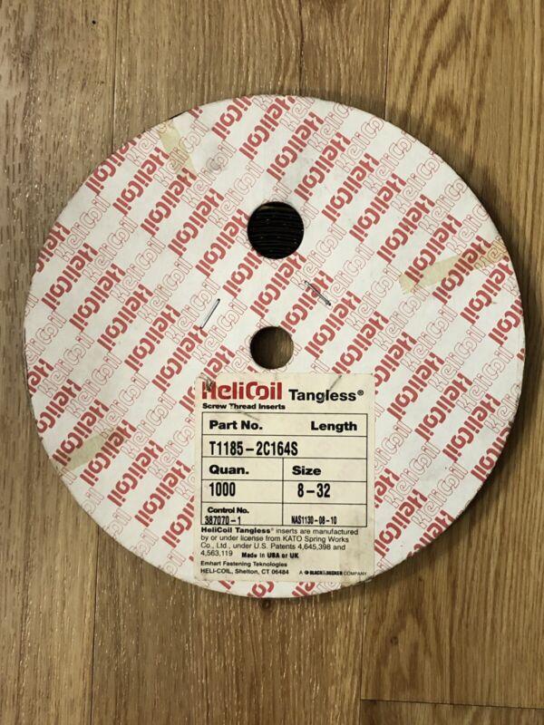 "8-32 x 0.164"" Tangless Helicoil Partial Spool 600 Pieces Minimum T1185-2C164S"