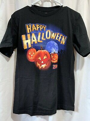 Happy Halloween Jack O Lanterns 2010 Black T Shirt Size S - Jack Happy Halloween