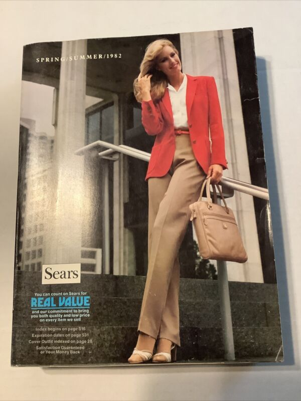 1982 SEARS SPRING & SUMMER CATALOG, FASHIONS, CLOTHES, COMPUTERS, ELECTRONICS