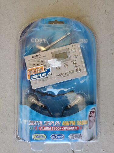 Coby CX-53 AM/FM Radio with Digital Display & Alarm Clock