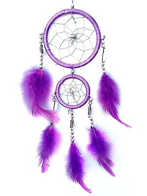 "Handmade Dream Catcher with feathers wall hanging decoration ornament-14""-PU"