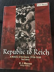 Republic to Reich - a history of Germany******1939 Morley Bayswater Area Preview