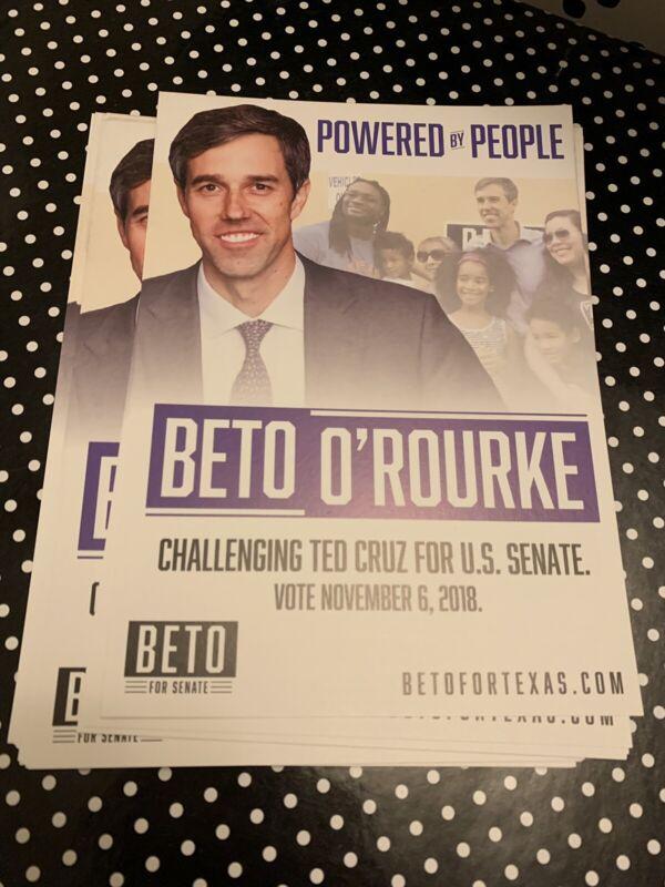 Official Beto O Rourke Texas Senate Campaign Flyer