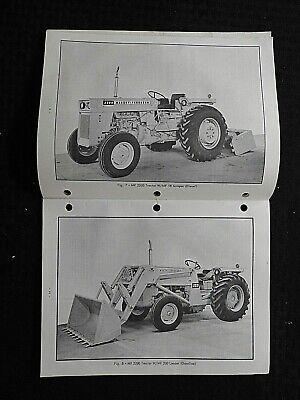 Genuine 1965-70 Massey-ferguson Mf 2200 Industrial Tractor Operators Manual Nice