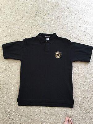 State Farm Insurance 75Th Anniversary Polo Shirt  Mens Medium  Black  Rare
