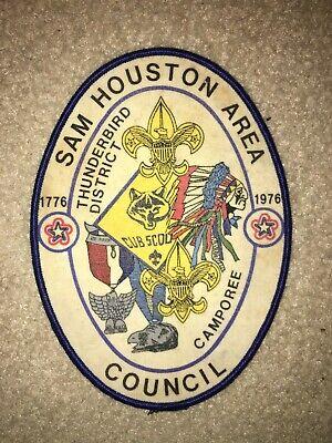 Boy Scout BSA Sam Houston Area Council Texas Eagle Silver Beaver OA Jacket Patch