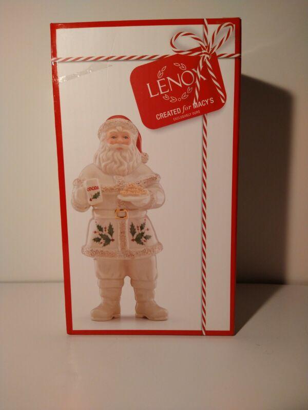 Lenox Holiday SANTA Claus Christmas Figurine Macy